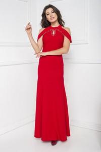 Czerwona sukienka Marcelini hiszpanka