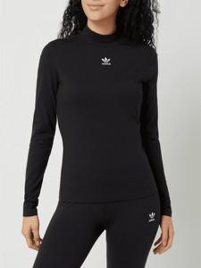 Czarna bluzka Adidas Originals z bawełny z okrągłym dekoltem