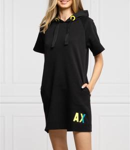 Czarna sukienka Armani Exchange prosta