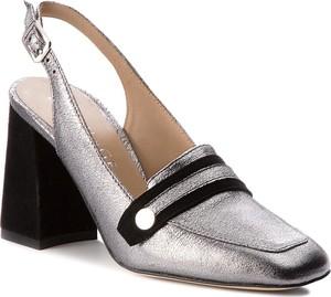 Sandały Eva Minge na obcasie w stylu casual z klamrami
