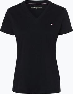 T-shirt Tommy Hilfiger z bawełny z dekoltem w kształcie litery v