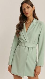 Miętowa sukienka Renee w stylu casual mini