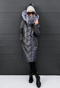 Czarny płaszcz BOCA w stylu casual