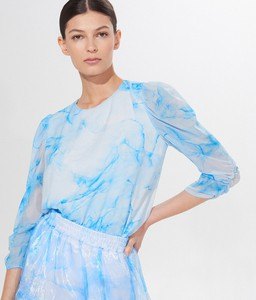 Niebieska bluzka Mohito w stylu casual