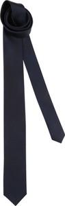 Granatowy krawat Esprit z jedwabiu