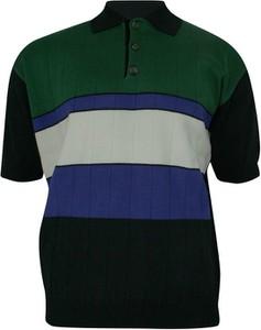 Granatowy t-shirt Kings z tkaniny