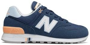Buty sportowe New Balance z zamszu sznurowane z płaską podeszwą