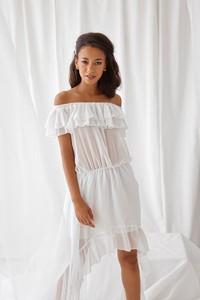 Sukienka Rose Boutique asymetryczna z krótkim rękawem