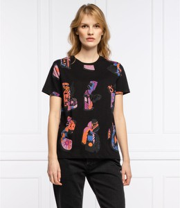 T-shirt Desigual z okrągłym dekoltem