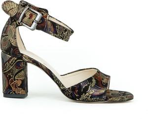 Sandały Zapato z zamszu na wysokim obcasie z klamrami
