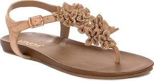 Sandały Venezia ze skóry z płaską podeszwą