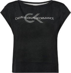 Czarna bluzka Calvin Klein z krótkim rękawem z bawełny