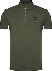 Zielona koszulka polo Emporio Armani w stylu casual