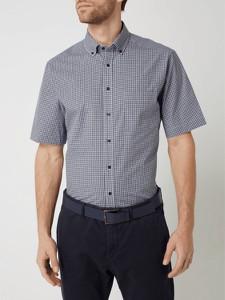 Koszula Eterna w stylu casual z kołnierzykiem button down z krótkim rękawem