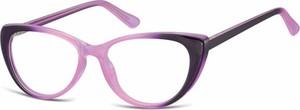 Stylion Oprawki korekcyjne Kocie Oczy zerówki Sunoptic CP138D gradient purpurowy