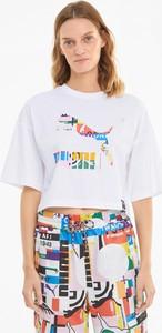 T-shirt Puma z bawełny z krótkim rękawem w sportowym stylu