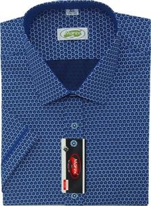 Niebieska koszula Marex Łódź z włoskim kołnierzykiem z bawełny