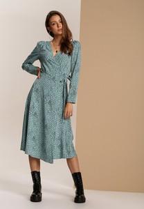 Zielona sukienka Renee w stylu boho midi kopertowa