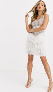Sukienka Starlet ze skóry na ramiączkach mini