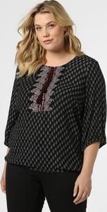Czarna bluzka Junarose w stylu casual z długim rękawem z okrągłym dekoltem