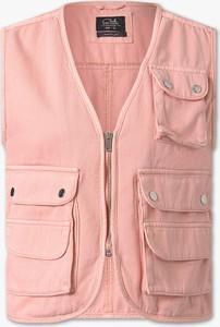 Różowa kamizelka CLOCKHOUSE z bawełny w sportowym stylu