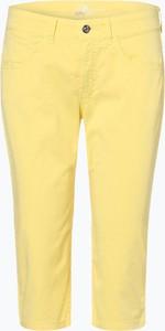 Żółte spodnie MAC z bawełny
