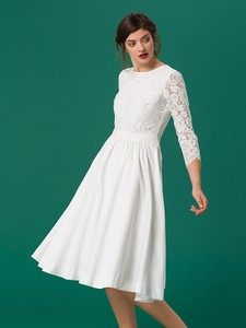 Sukienka Ivy & Oak z okrągłym dekoltem z długim rękawem z jedwabiu
