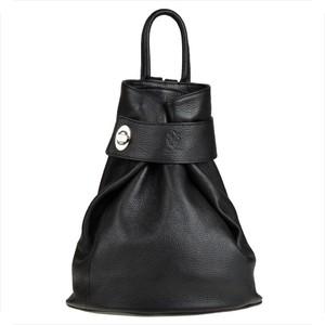 Czarny plecak męski Real Leather ze skóry