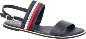 Sandały Tommy Hilfiger z płaską podeszwą w stylu casual