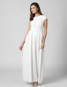 Sukienka Ralph Lauren maxi z krótkim rękawem z okrągłym dekoltem