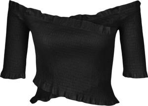 Czarna bluzka NA-KD hiszpanka