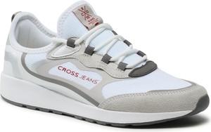 Buty sportowe Cross Jeans z płaską podeszwą sznurowane w sportowym stylu