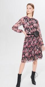 Sukienka Mohito midi z okrągłym dekoltem rozkloszowana