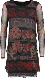 Sukienka Desigual w stylu casual midi z długim rękawem