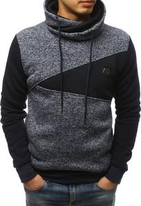 Granatowa bluza Dstreet w stylu casual z bawełny
