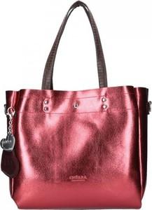 Czerwona torebka Chiara Design duża z breloczkiem