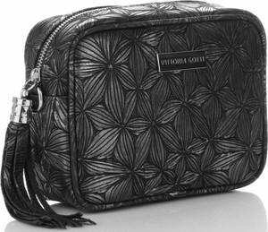 Czarna torebka VITTORIA GOTTI na ramię w stylu glamour