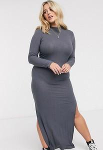 Czarna sukienka Urban Bliss Plus dopasowana z golfem
