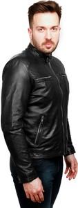 Czarna kurtka David Ryan w stylu casual ze skóry