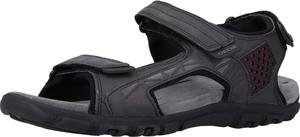 Granatowe buty letnie męskie Geox ze skóry w stylu casual