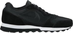 Czarne buty sportowe Nike sznurowane z płaską podeszwą z zamszu