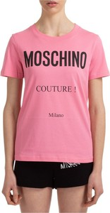 T-shirt Moschino z okrągłym dekoltem w młodzieżowym stylu z krótkim rękawem