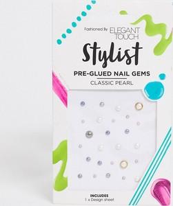 Elegant Touch – Stylist – Kryształki do zdobienia paznokci z klejem – Classic Pearl-Wielokolorowy