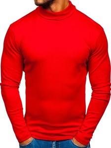 Czerwony sweter Denley z bawełny