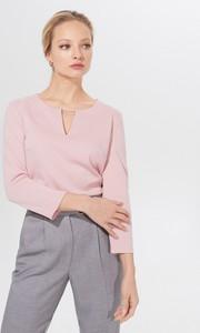 Różowa bluzka Mohito z dekoltem w kształcie litery v