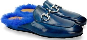Niebieskie buty letnie męskie Melvin & Hamilton ze skóry