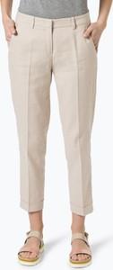 Cambio - spodnie damskie z dodatkiem lnu – krystal, beżowy