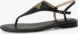 Sandały Ralph Lauren ze skóry z klamrami w stylu casual