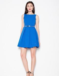 Niebieska sukienka Venaton bez rękawów mini