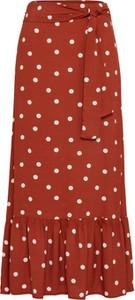 Czerwona spódnica EDITED w stylu casual midi